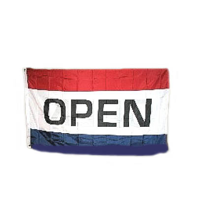OPEN Flag - Reads Correctly Both Sides 3' X 5' Item 2SOP